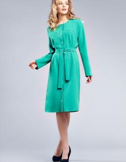 Платье-рубашка зеленое