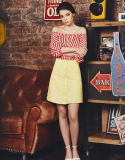 Юбка джинсовая желтая Denim