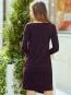 Платье с разрезом бордовое