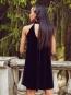 Платье бархатное черное
