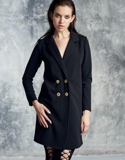 Платье-жакет черное